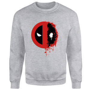 Marvel Deadpool Split Splat Logo Sweatshirt - Grey