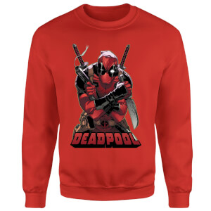 Marvel Deadpool Ready For Action Sweatshirt - Red