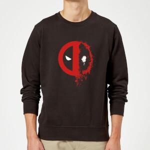 Sweat Homme Deadpool (Marvel) Split Splat Logo - Noir