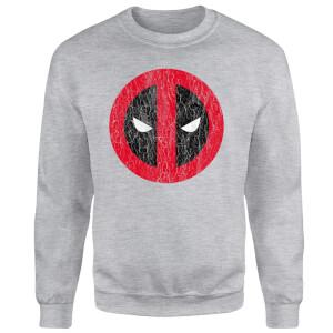 Marvel Deadpool Deadpool Cracked Logo Sweatshirt - Grey