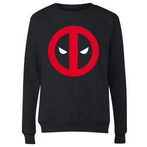 Marvel Deadpool Clean Logo Women's Sweatshirt - Black
