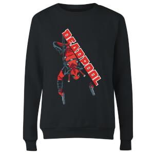 Marvel Deadpool Hang Split Women's Sweatshirt - Black