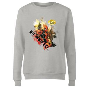 Marvel Deadpool Outta The Way Nerd Women's Sweatshirt - Grey