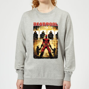 Sweat Femme Deadpool (Marvel) Cible - Gris