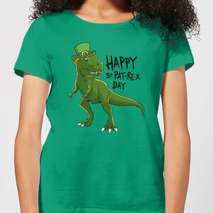 Beershield Happy St Pat-Rex Women's T-Shirt - Kelly Green