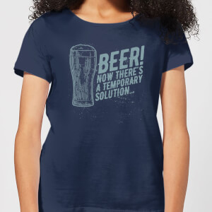 Beershield Beer Temporary Solution Women's T-Shirt - Navy