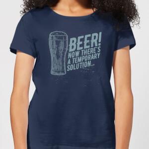 Beershield Beer Temporary Solution Women's T-Shirt - Navy