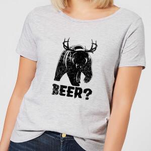 Beershield Beer Bear Deer Women's T-Shirt - Grey