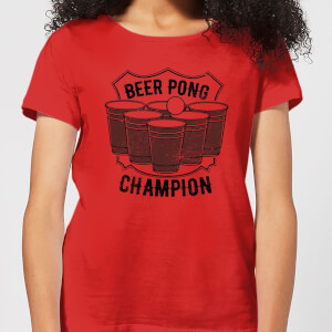 Beershield Beer Pong Champion Women's T-Shirt - Red