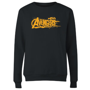 Sweat Femme Avengers Infinity War ( Marvel) Logo Orange - Noir