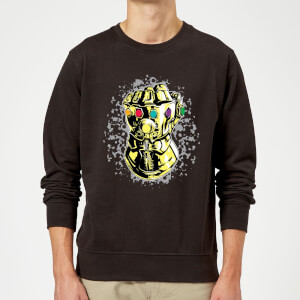 Marvel Avengers Infinity War Fist Comic Sweatshirt - Black