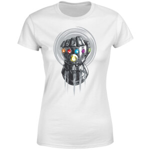 T-Shirt Femme Avengers Infinity War ( Marvel) Thanos Infinite Power Fist - Blanc