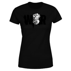 Marvel Avengers Infinity War War Fist Women's T-Shirt - Black
