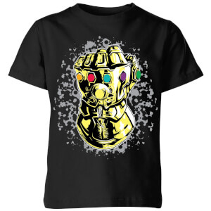 Marvel Avengers Infinity War Fist Comic Kinder T-shirt - Zwart