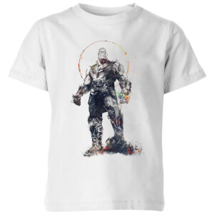 Marvel Avengers Infinity War Thanos Sketch Kinder T-shirt - Wit