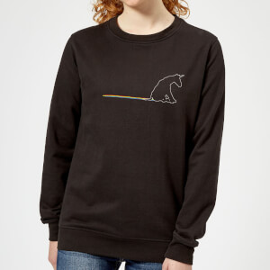 Unicorn Skid Mark Women's Sweatshirt - Black