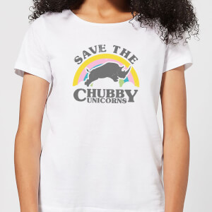 Save The Chubby Unicorns Women's T-Shirt - White