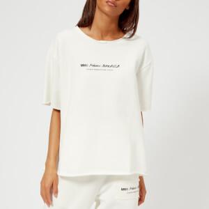 MM6 Women's Logo Basic Sweat T-Shirt - Off White
