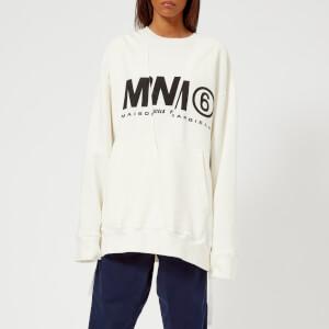 MM6 Women's Logo Basic Sweatshirt - Off White