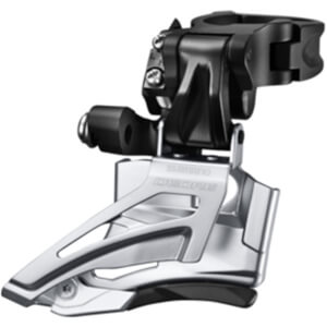 Shimano Deore M618-H Double Front Derailleur - High Clamp - Down Swing - Dual Pull