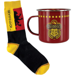 Set calcetines y taza hojalata Quidditch Gryffindor - Harry Potter