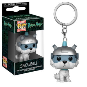 Rick and Morty Snowball Funko Pop! Vinyl Keychain