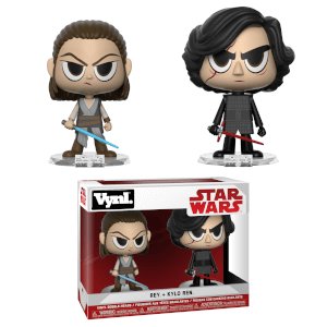 Star Wars The Force Awakens Rey and Kylo Vynl.