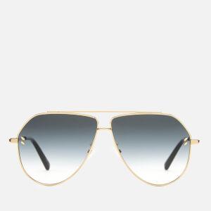 Stella McCartney Women's Aviator Sunglasses - Gold/Grey