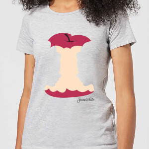 Disney Princess Colour Silhouette Snow White Apple Women's T-Shirt - Grey