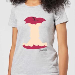 T-Shirt Femme Blanche-Neige Pomme Croquée Disney - Gris