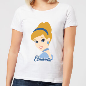 Disney Princess Colour Silhouette Cinderella Women's T-Shirt - White