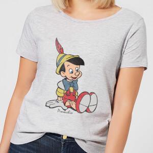 Disney Pinocchio Classic Women's T-Shirt - Grey