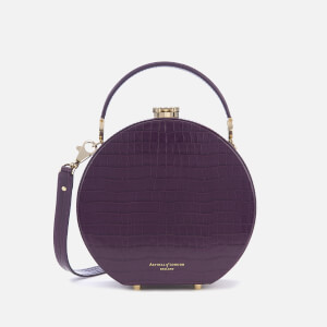 Aspinal of London Women's Mini Hat Box - Amethyst