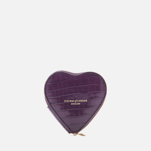 Aspinal of London Women's Heart Coin Purse - Amethyst
