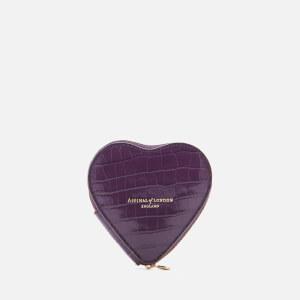 Aspinal of London Women's Heart Coin Purse - Amethyst