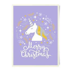 Unicorn Christmas Art Print