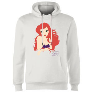 Disney Princess Colour Silhouette Ariel Hoodie - White