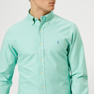 Polo Ralph Lauren Men's Slim Fit Garment Dye Oxford Shirt - Green