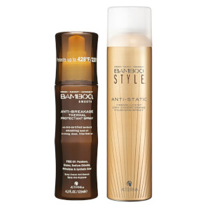 Alterna Bamboo Style Dry Finishing Spray and Anti-Breakage Thermal Protect Spray Duo