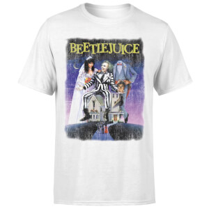 Beetlejuice Distressed Poster T-Shirt - White