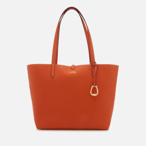 Lauren Ralph Lauren Women's Merrimack Reversible Medium Tote Bag - Burnt Orange/Gold