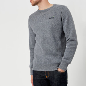 Superdry Men's Orange Label Crew Neck Sweatshirt - Gravel Blue Grit
