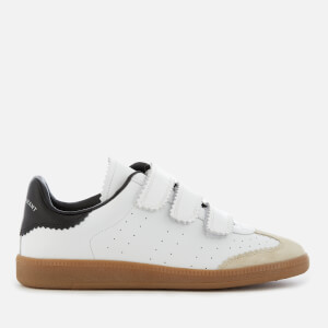 Isabel Marant Women's Beth Leather Triple Strap Trainers - White