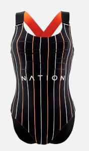 P.E Nation Women's The West Port Reversible Onepiece Swimsuit - Black