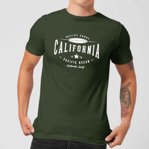 Camiseta Native Shore California - Hombre - Verde oscuro