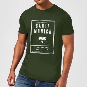 T-Shirt Homme Santa Monica Surf City Native Shore - Vert Foncé