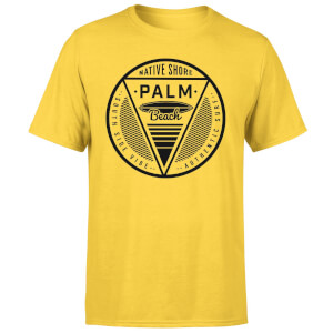 Native Shore Men's Palm Beach T-Shirt - Yellow