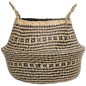 Bloomingville Seagrass Basket - Nature & Black