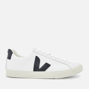 Veja Women's Esplar Logo Leather Low Top Trainers - Extra White/Black