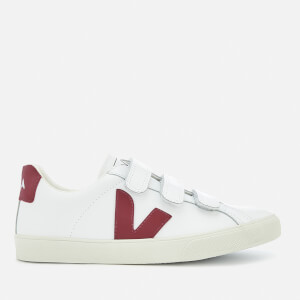 Veja Women's 3-Lock Leather Trainers - Extra White Marsala